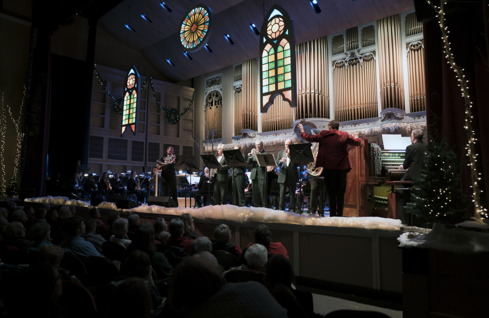 """Robert Moody conducts the Portland Symphony Orchestra in his last run of """"Magic of Christmas"""" shows."""
