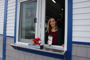 Haley Cabana used to serve coffee but now the former barista owns the business. Cabana recently opened a new Aroma Joe's franchise in south Sanford. TAMMY WELLS/Journal Tribune