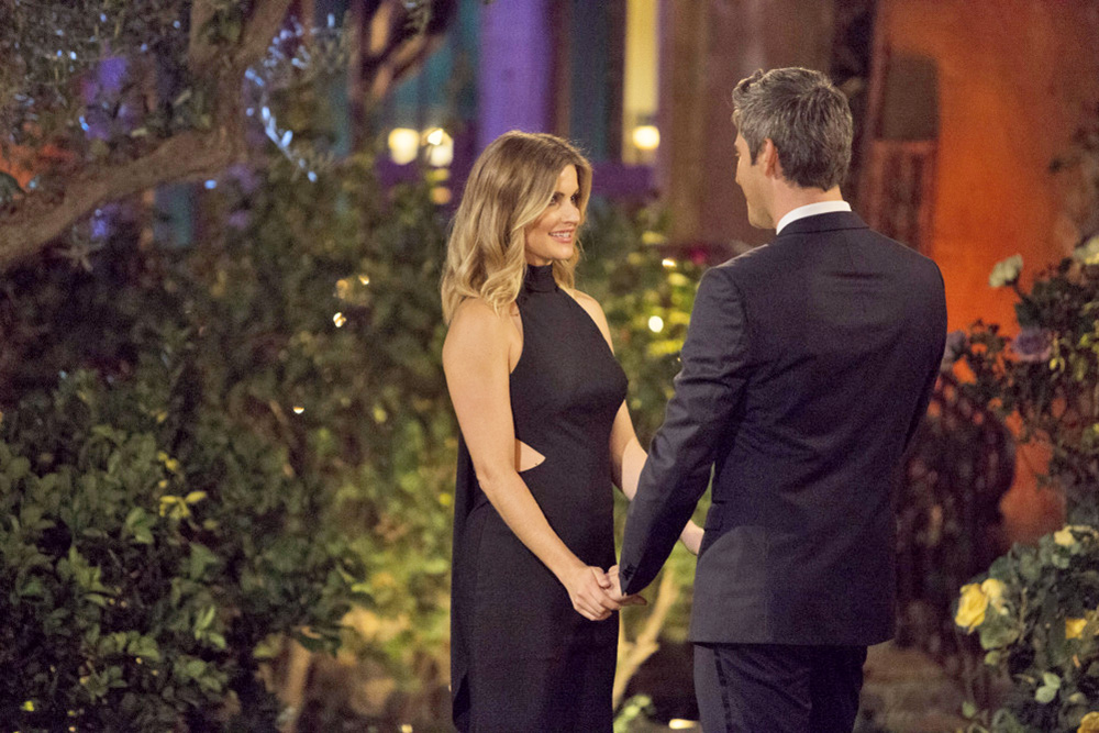 """Chelsea Roy of South Portland meets  Arie Luyendyk Jr. in a scene from Monday night's episode of """"The Bachelor"""" on ABC."""