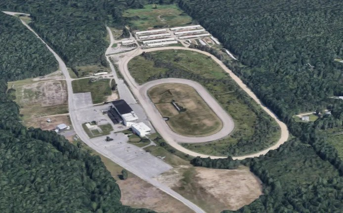 Aerial view of Scarborough Downs
