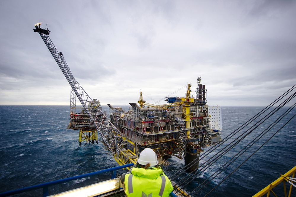 This offshore gas platform is operated by Statoil in the North Sea in the area of Bergen, Norway. The Trump administration plans to permit drilling in almost all U.S. waters, including protected areas of the Arctic and the Atlantic.