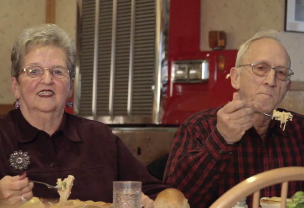 """In outtakes from filming a Dysart's ad, Jack and Sonya Palmer repeatedly flubbed the words """"buttery, flaky crust"""" – sometimes getting agitated – but ended up with many YouTube fans."""