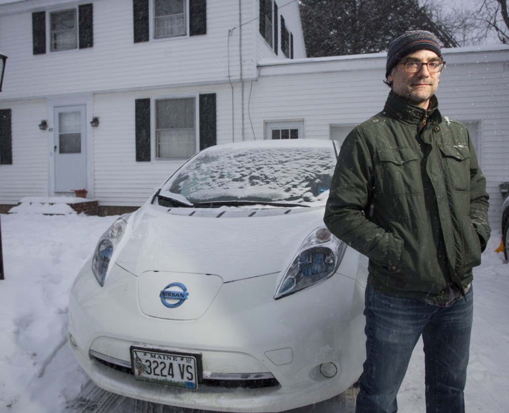 "Mark Marchesi says paying an extra fee ""goes against what you are trying to achieve"" by driving a car like his all-electric Nissan Leaf."