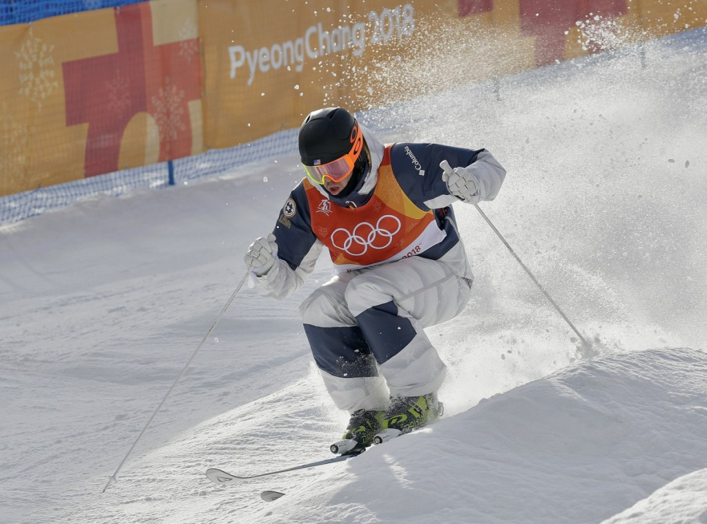 Troy Murphy of the United States competes Friday during the men's moguls qualifying at Phoenix Snow Park in Pyeongchang.