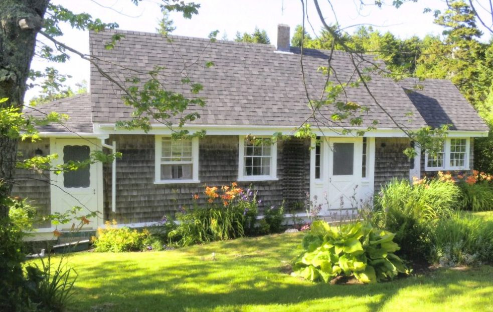 Rockwell Kent began building his Monhegan Island house when he was 23. It was later owned by James Fitzgerald.