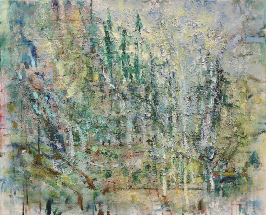 """""""In the Mountains,"""" 2008, oil on linen."""