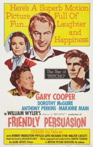 Legendary Hollywood motion picture 'Friendly Persusasion' with Gary Cooper will be shown in Ogunquit on March 4 as part of the Ogunquit Performing Arts 17th Annual Classic Film Series. COURTESY PHOTO