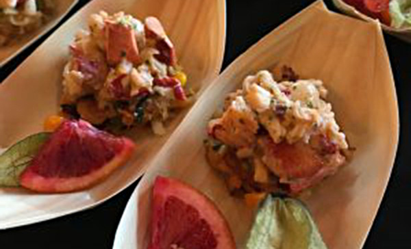 Chef Tim Labonte's Lobstah Hash: lobster with chervil-infused mascarpone and root vegetable-and-corn hash. Mmmm-mm.