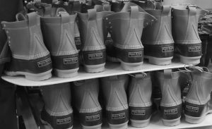 BEAN BOOTS, made in Brunswick and Lewiston, as seen in this file photo, may soon be making their way to Bean Town, as the company announces the grand opening of its Boston store.