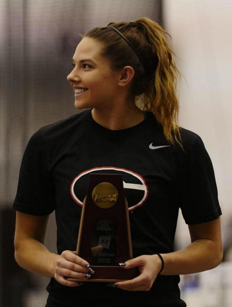 Kate Hall of Casco, a former Lake Region High competitor, earned the NCAA trophy for winning the long jump, passing 22 feet for the first time indoors. She also became a All-American by finishing sixth in the 60 meters.