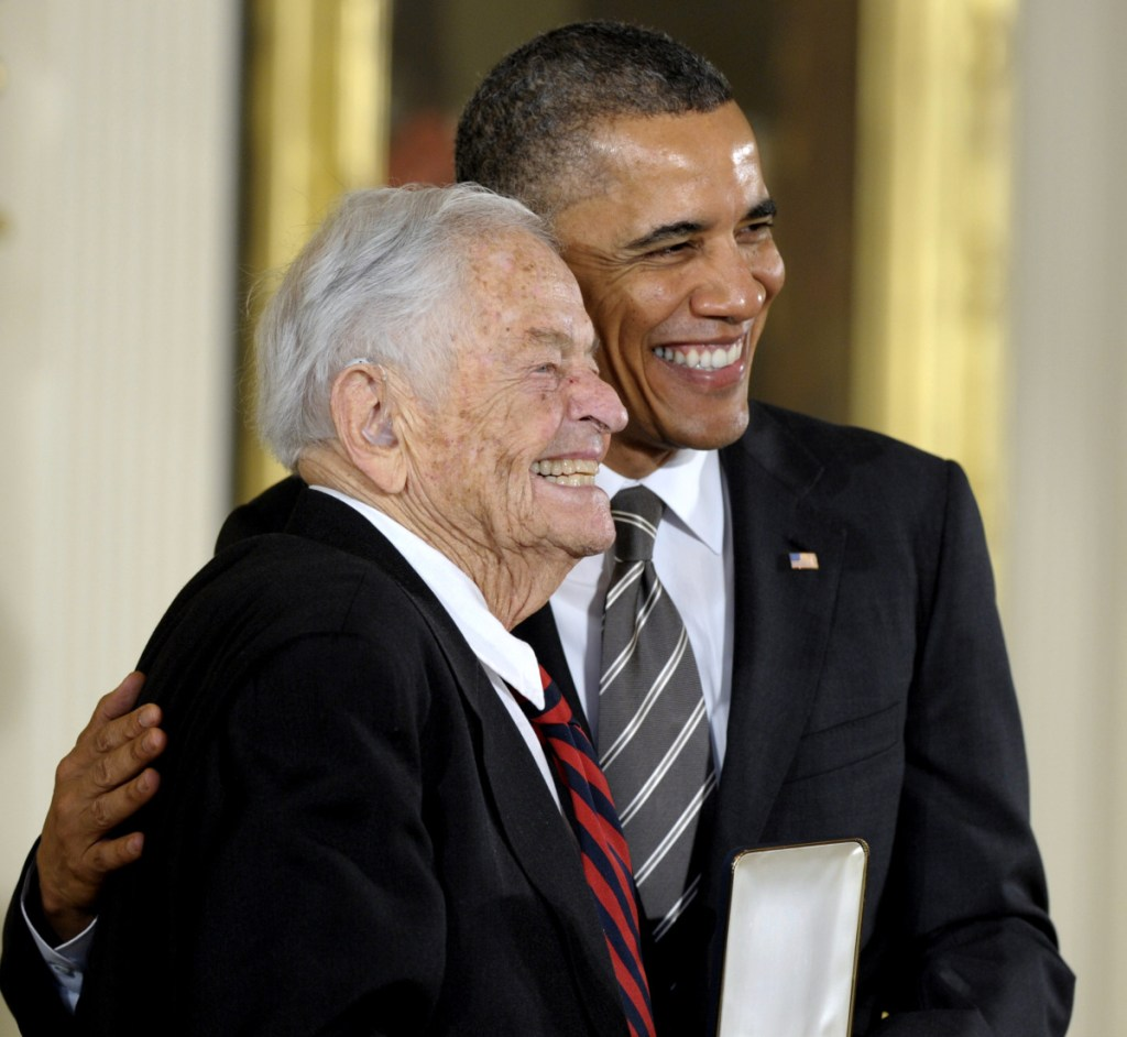 President Barack Obama presents T. Berry Brazelton with the 2012 Presidential Citizens Medal. The pediatrician was behind the widely used Neonatal Behavioral Assessment Scale, which tests newborns' responses to sound and light.