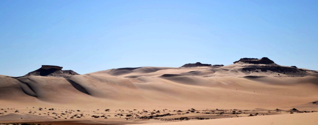 The Great Sand Sea is 28,000 square miles of rolling dunes along the northern edge of the Sahara. The area is known for its ancient ruins, a vast salt lake and rolling sand dunes in the surrounding desert. Associated Press/Kim Gamel