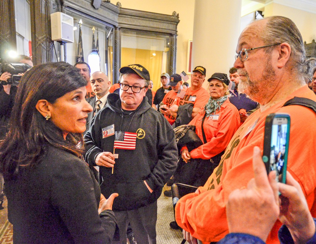 Before addressing a gun-control rally Thursday, House Speaker Sara Gideon, D-Freeport, invites counter-demonstrators to meet with her in her office afterward.