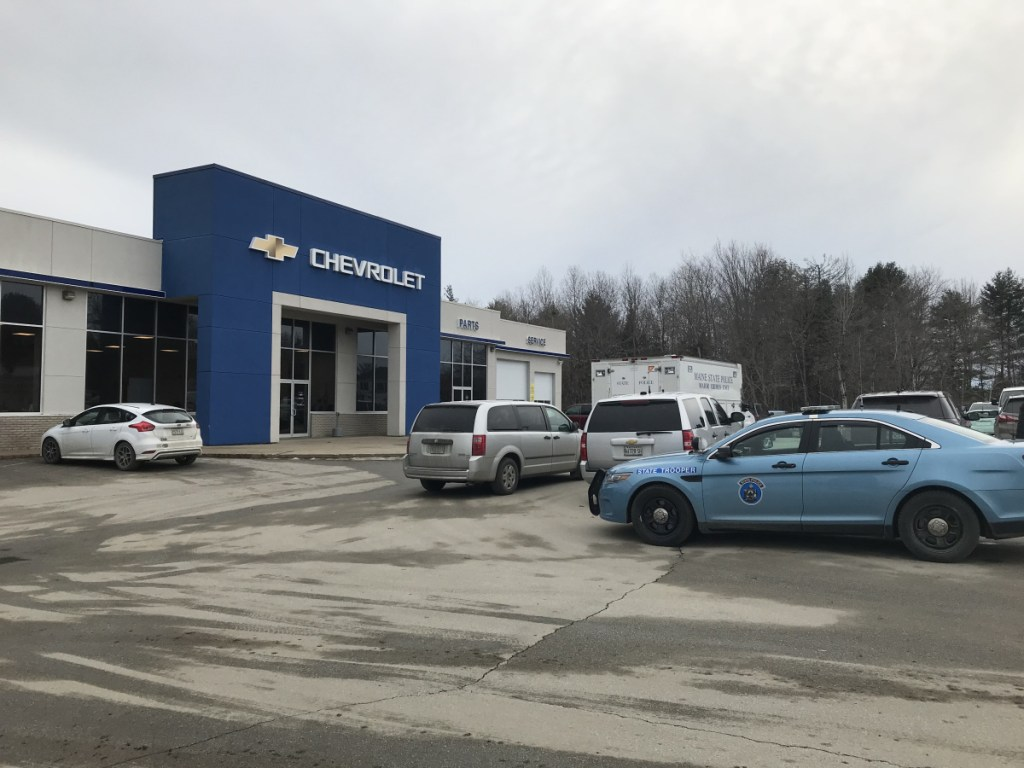 Police were called to the Varney Chevrolet dealership on Somerset Avenue in Pittsfield where the body of a young woman was discovered in the trunk of a locked Chevy Malibu that had been towed from the Wal-Mart in Palmyra on Friday.