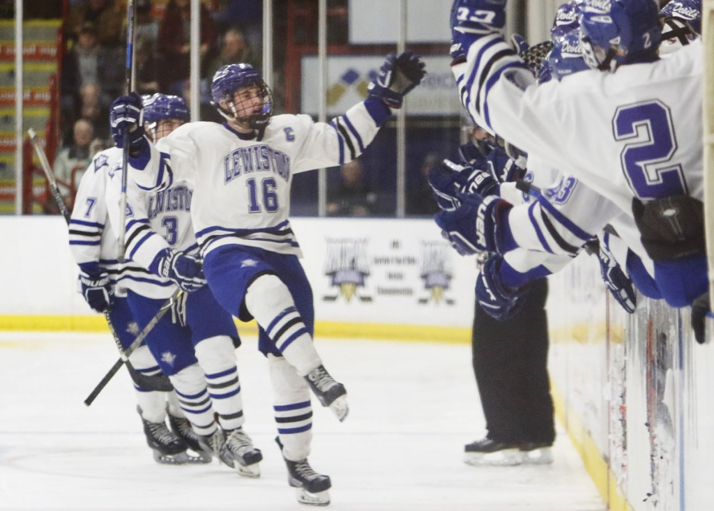 Alex Robert scored a key third-period goal for Lewiston in the state final, but in typical fashion deflected the credit to his teammates.