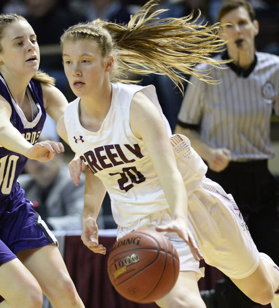 Anna DeWolfe of Greely made sure that when the state title was on the line against Hampden Academy, she would be at her best. Her ability to impact games in so many ways made her the Player of the Year.