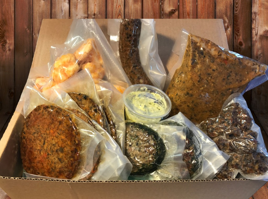 Veggie burger company Freshiez is hoping to raise enough money to launch the Meatless Butcher Box subscription service. Each box will always include burgers, taco crumbles and steak filets with vegan butter. Additional items will change each month and might include hot dogs, sausages or jerky.