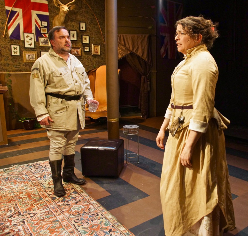 Brent Askari as Sir Harry Percy and Janice Gardner as Phyllida Spotte-Hume.
