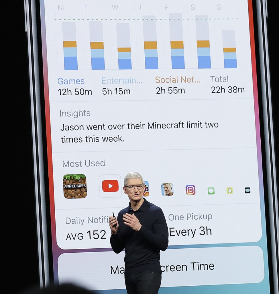 Apple CEO Tim Cook speaks at the Apple Worldwide Developers Conference on Monday in San Jose, Calif.