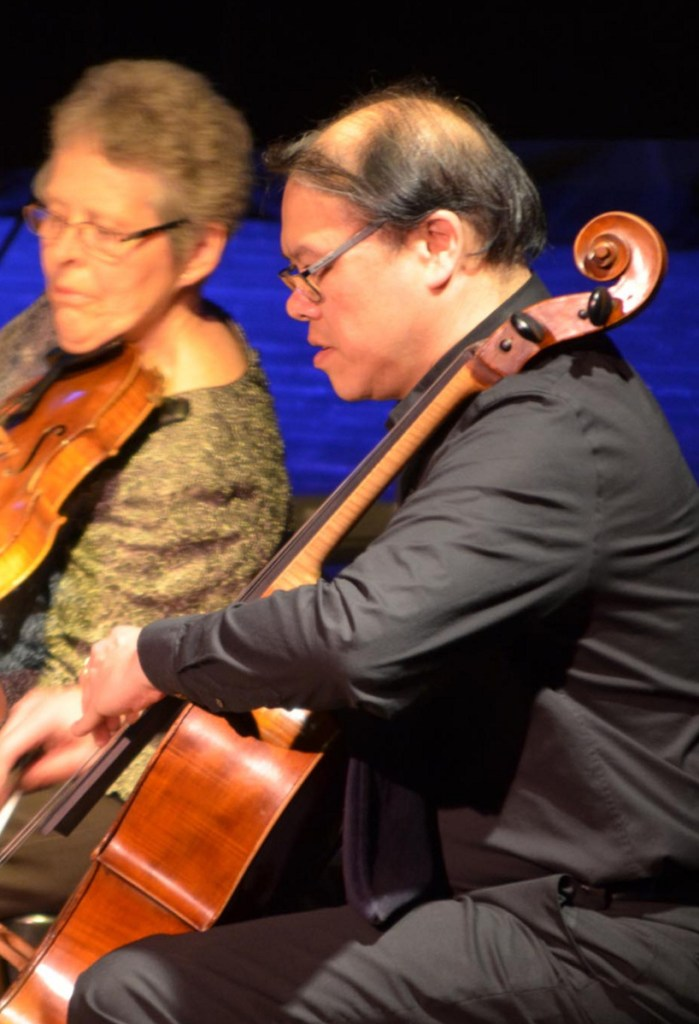 Andrew Mark has previously guest-performed with Julia Adams, left, and the PSQ.