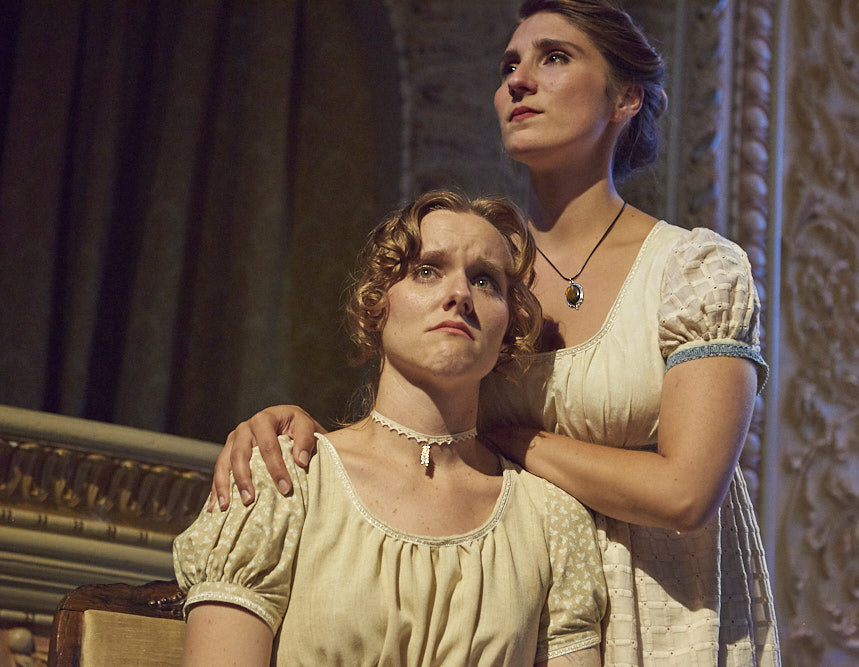 Amber McNew as Jane and Katie Croyle as Elizabeth Bennet.