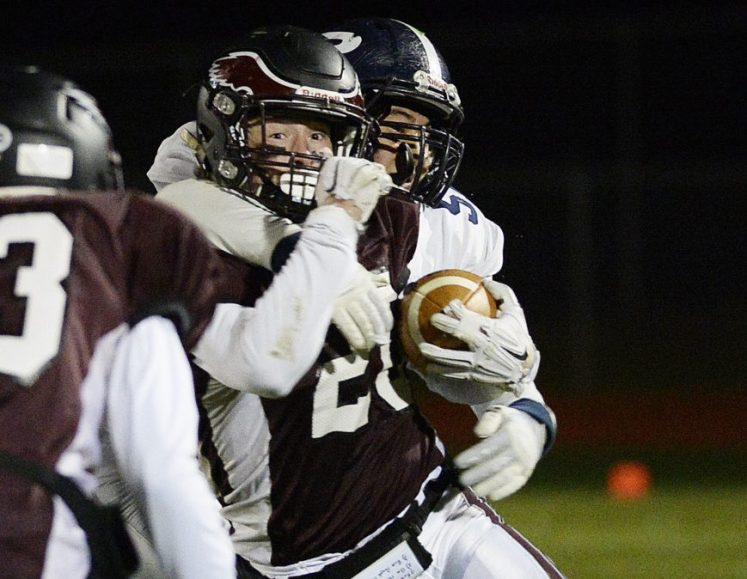 Tanner Bernier of Windham is among the East players who suffered defeats in state championship games last November. They will face some players from the winning teams in the annual Lobster Bowl game Saturday in Saco.