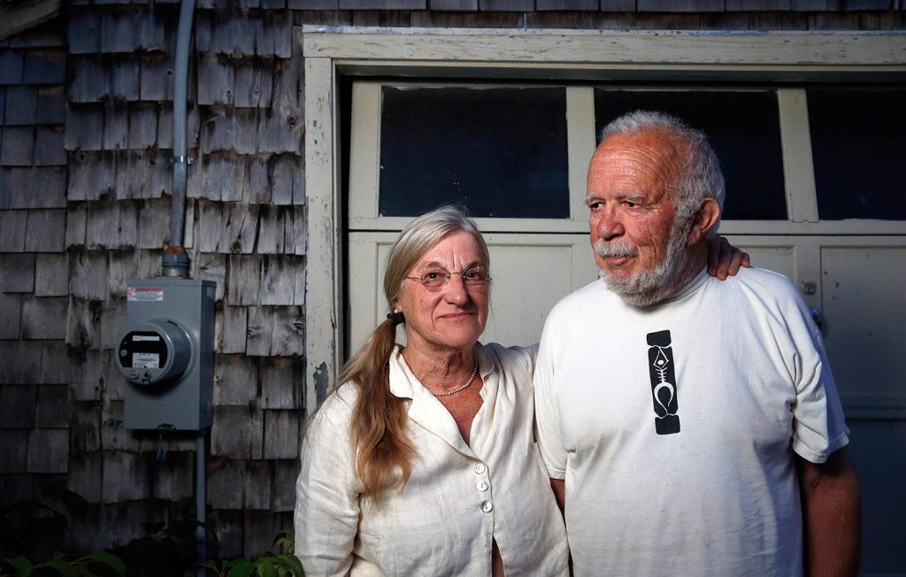 Judith Hopkins and Christopher Hyde of Pownal have experienced a 250 percent increase in electricity bills this year from Central Maine Power Co. They feel that, if anything, their bills should have gone down because they recently installed a higher-efficiency well pump. Hopkins, a plaintiff in the class-action lawsuit against CMP, says she hopes it will prompt the company to fix its metering and billing systems and improve its customer service.