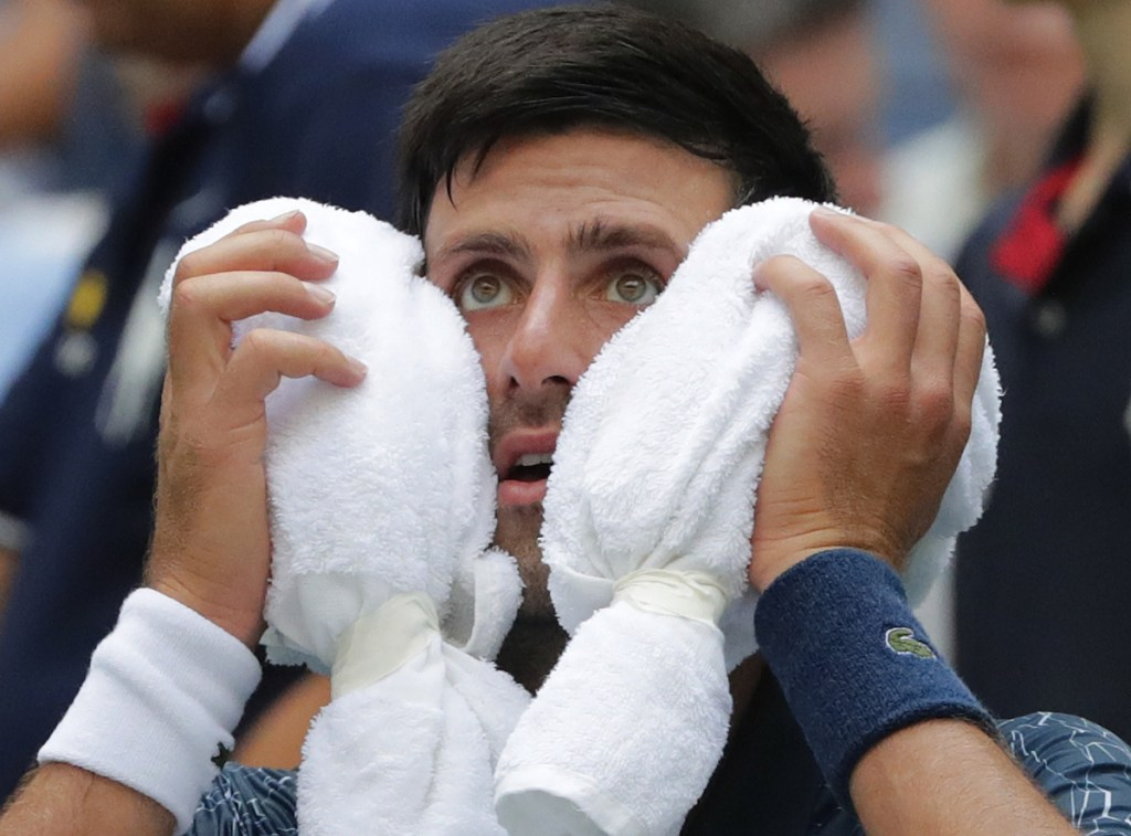 "Novak Djokovic was in ""survival mode"" in winning his first round match at the U.S. Open on Tuesday in New York. Djokovic outlasted Marton Fucsovics 6-3, 3-6, 6-4, 6-0."