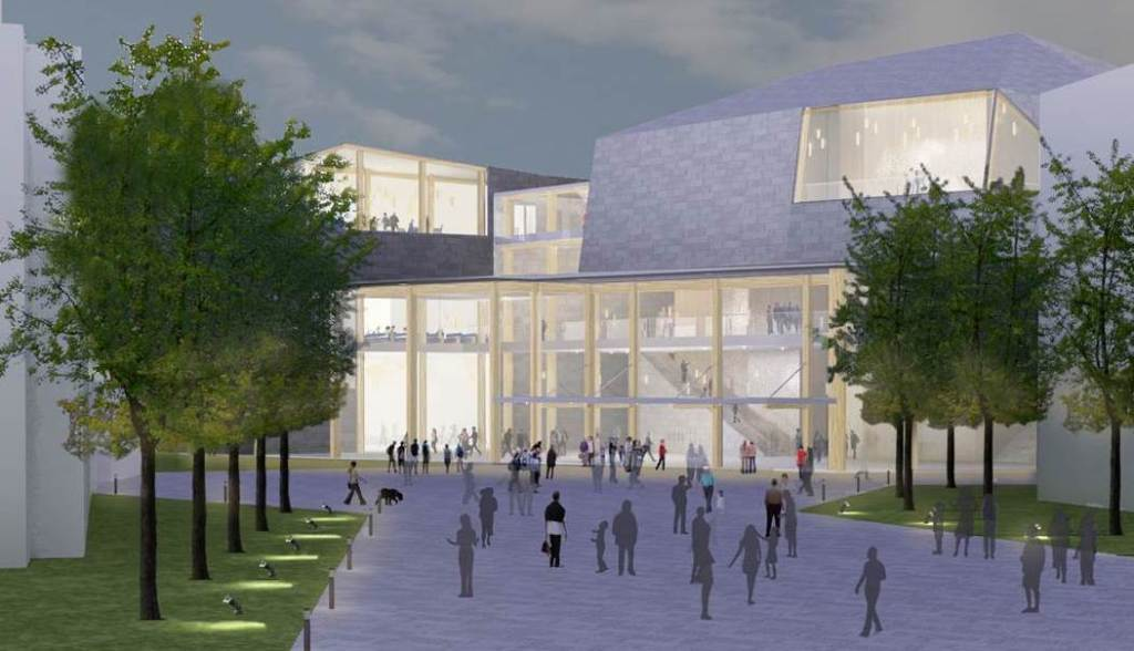 An artist's rendering of what USM's Center for the Arts could look like.