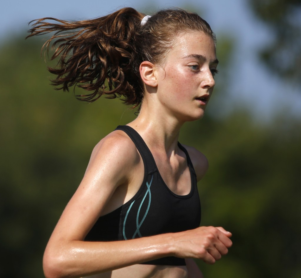 Sofie Matson of Falmouth, who won the Class A cross country title as a freshman last fall, will be the top runner as the Yachtsmen seek to unseat Camden Hills and win their first state championship.