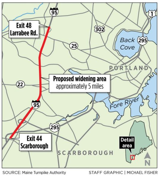 Turnpike authority approves $140 million plan to widen 5 miles of