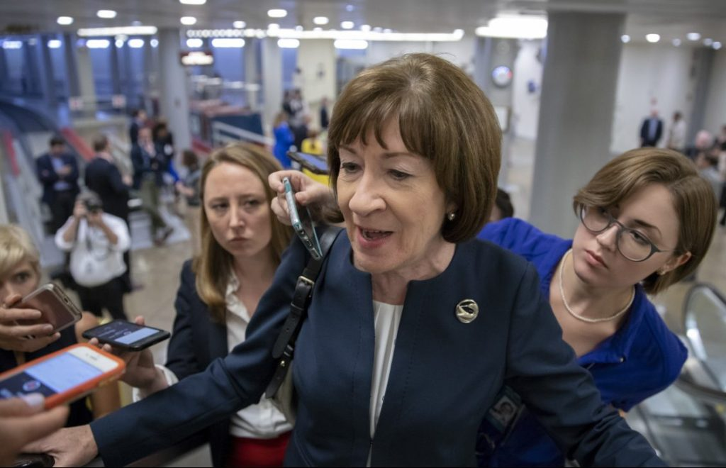 Maines Sen. Susan Collins is a pro-abortion-rights Republican in a Senate with a slim Republican majority, so her confirmation vote is likely to be key.
