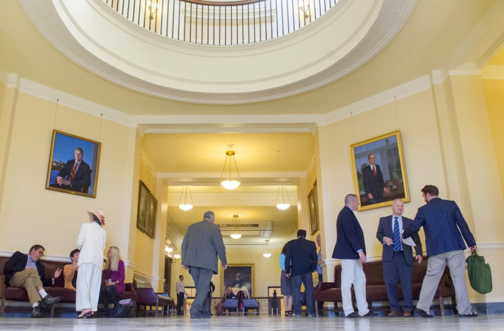 The third floor of the State House, where the House and Senate chambers are, was busy on Thursday, the last day of this year's marathon legislative session.