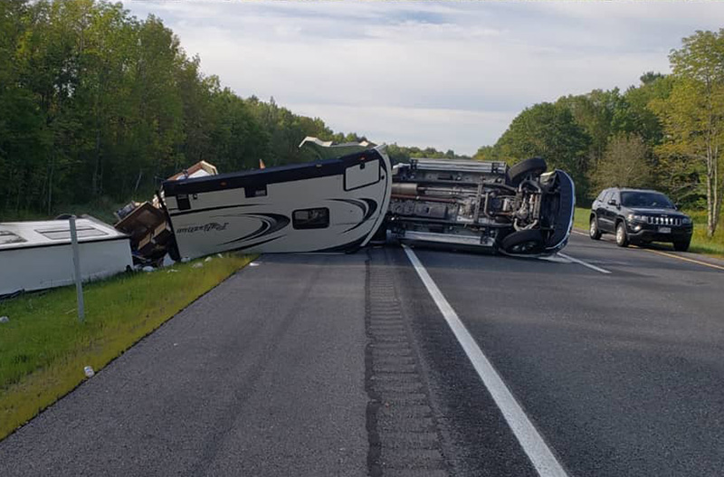 Scene of a crash in Richmond on I-295 on Friday morning.