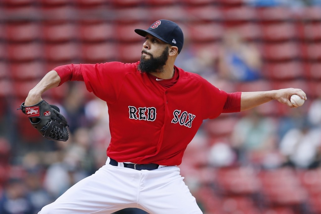 David Price was 16-7 this season with a 3.58 ERA for the Boston Red Sox, but he has yet to win a game in nine postseason starts. He'll start Saturday night against the New York Yankees. (AP Photo/Michael Dwyer)