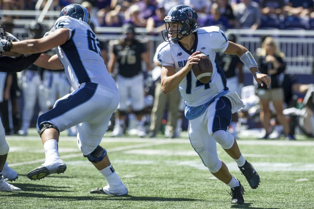 Chris Ferguson's status for Saturday's game against Rhode Island is uncertain, as the Maine quarterback is recovering from a shoulder injury.