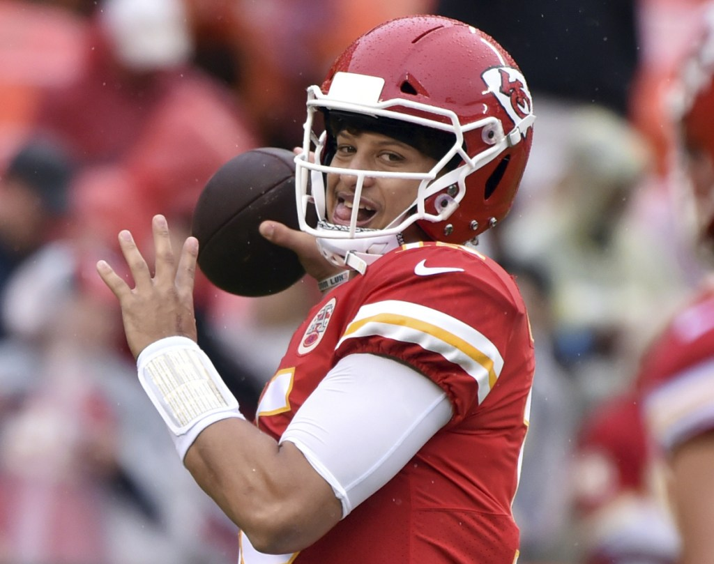Chiefs quarterback Patrick Mahomes is averaging more than 300 passing yards per game this season, with 14 touchdown passes and only two interceptions.