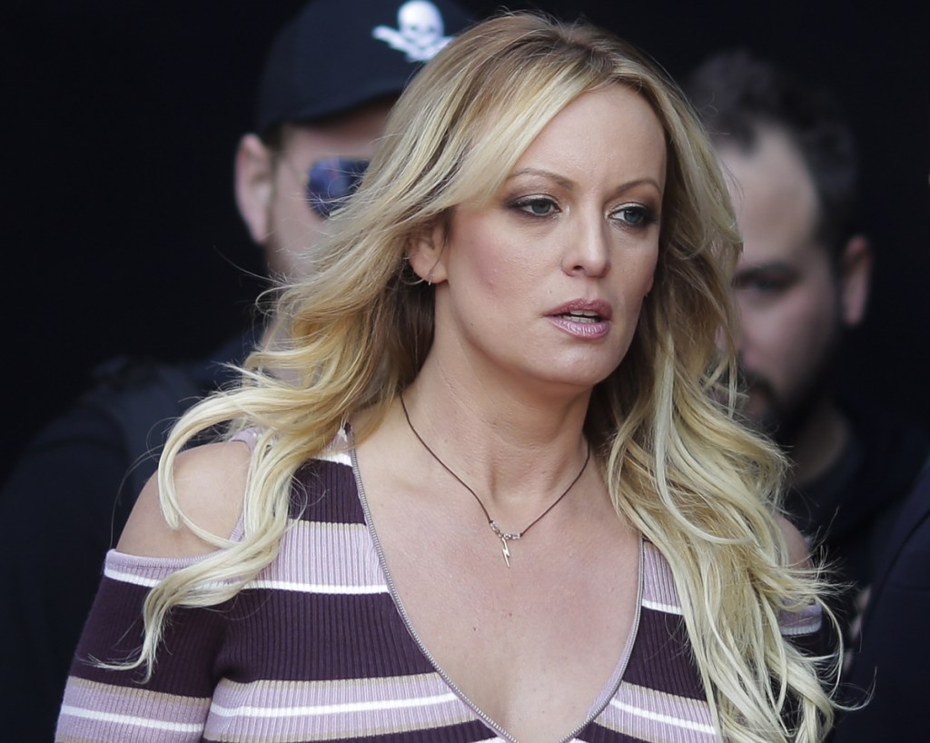 Stormy Daniels arrives for the opening of the adult entertainment fair Venus in Berlin last week.
