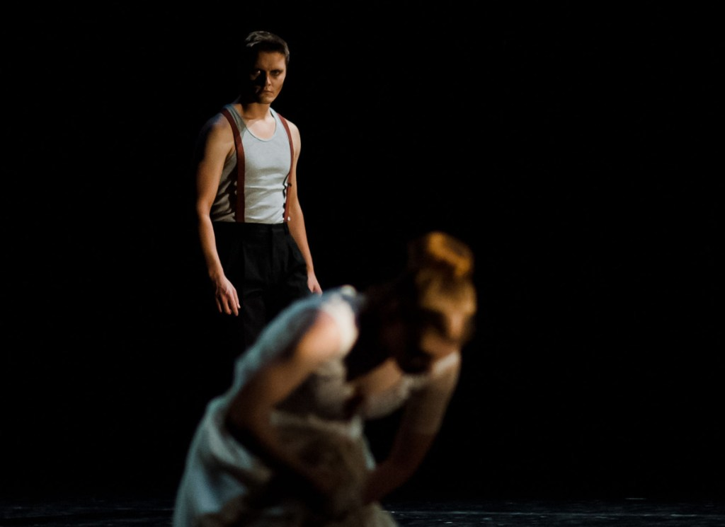 """Dancers appear in a scene from Portland Ballet's """"Jack the Ripper"""" Friday in Westbrook."""