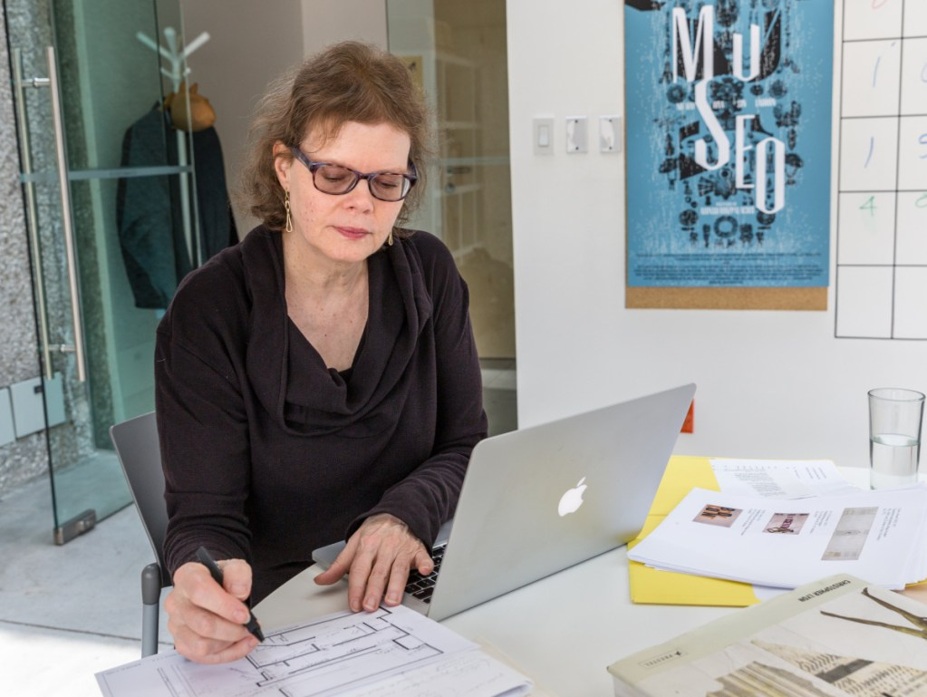 Julie Ault at the Museum Tamayo in Mexico City this fall. She credits her Maine forerunners for inspiring the creativity that earned her a MacArthur grant.
