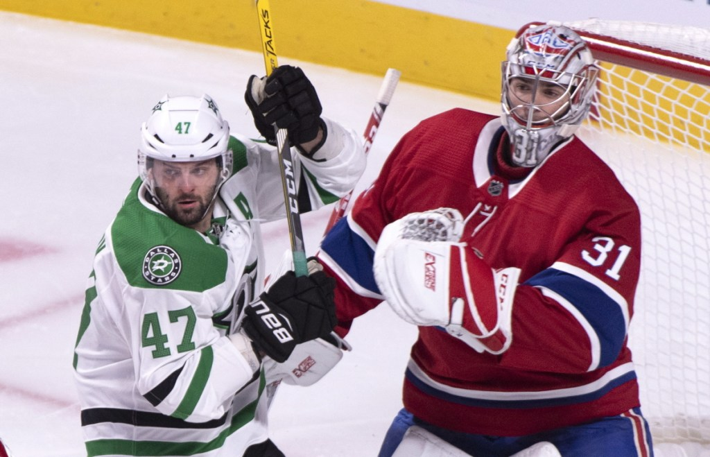 Dallas' Alexander Radulov gets up close to Montreal goaltender Carey Price in the first period Tuesday night at Montreal.