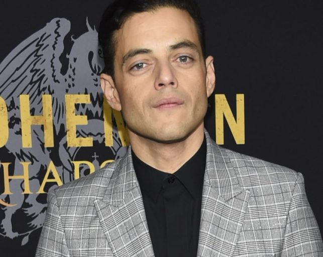 """Rami Malek arrives for the premiere of """"Bohemian Rhapsody"""" in New York on Tuesday."""