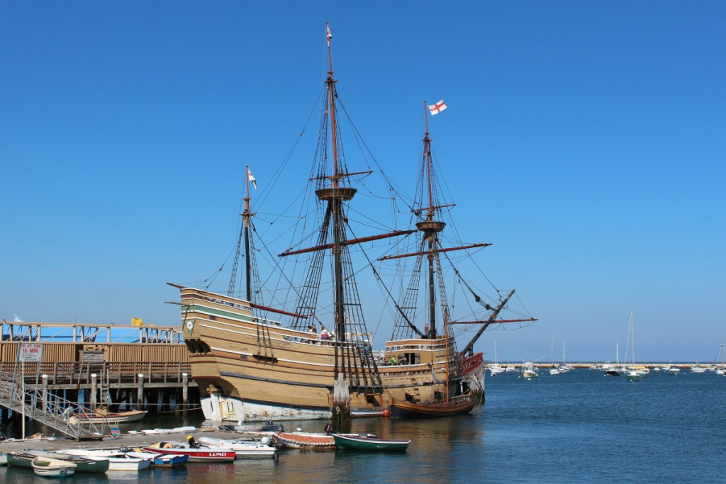 The Mayflower II, a replica of the Mayflower, is similar in appearance to the Angel Gabriel, a ship that sank in 1635 off the coast of Maine. Tom Desjardin, a Hallowell resident and director of the state's Bureau of Parks and Lands, is trying to locate the shipwreck.