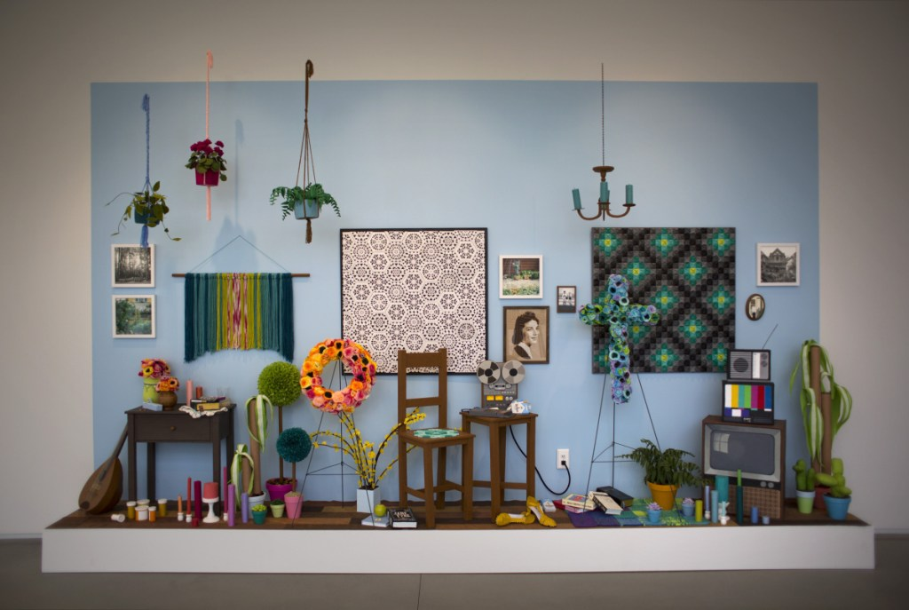 """Julie K. Gray created a larger version of her installation """"Waiting Room,"""" which she showed in the window at Space Gallery in Portland last winter."""