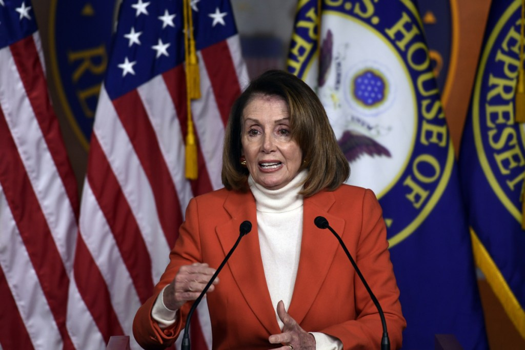 House Minority Leader Nancy Pelosi of Calif., speaks during a news conference on Capitol Hill in Washington, Thursday, Nov. 15, 2018.