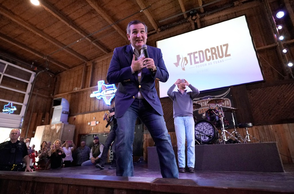 Republican Sen. Ted Cruz of Texas, seen at a campaign event Monday, held off a strong challenge by Democratic U.S. Rep. Beto O'Rourke to help his party hold its majority in the Senate.