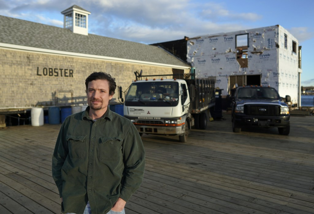 Luke Holden says he's excited about the collaborative nature between a working waterfront and what will be the latest addition to his chain of Maine-themed restaurants, planned to open next summer at the end of Portland Pier.