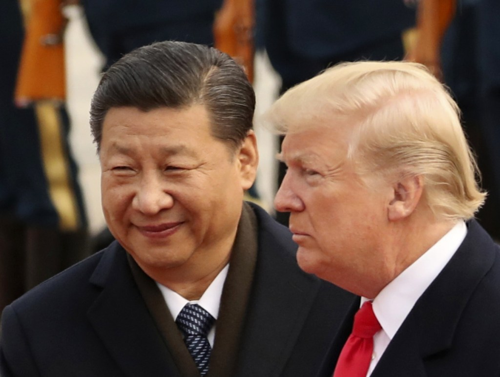 Chinese President Xi Jinping and President Trump meeting last fall in Beijing.