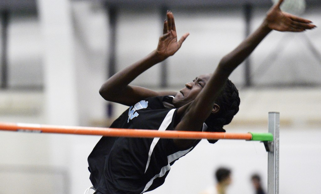 Westbrook's Nyagoa Bayak has a personal best of 5 feet, 11 inches in the high jump, but her trainer, Andy Wight, believes she can reach 6 feet or higher as a senior this season.