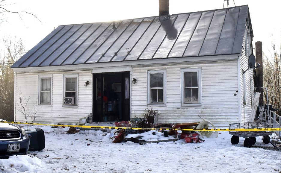 The home at 384 Bangor Road in Troy sustained serious fire damage on the night of Dec. 2, 2018.